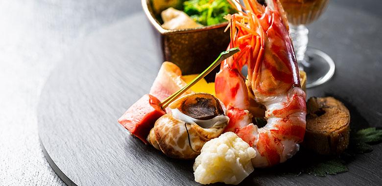 琵琶湖ホテルの夕食