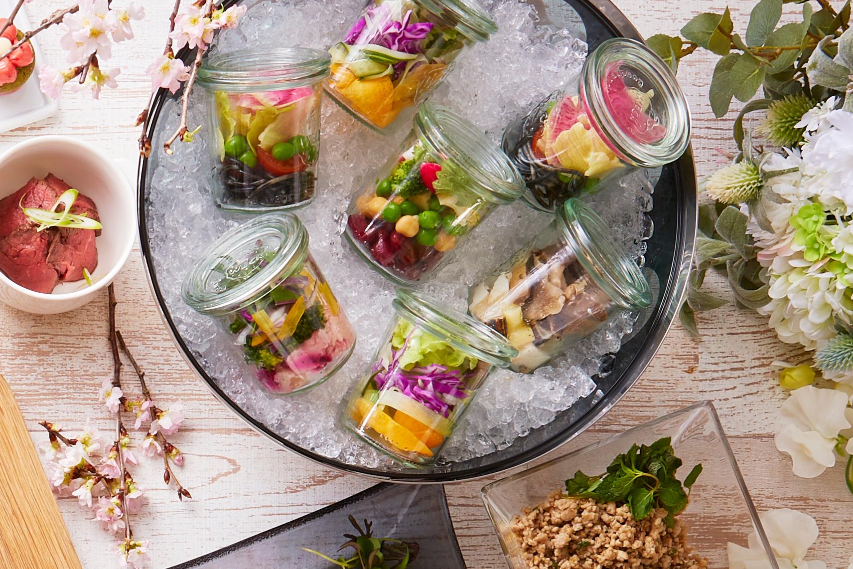 5種類のグラスサラダ